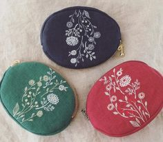 Fabric Bags, Ogawa, Diy And Crafts, Coin Purse, Embroidery, Instagram, Needlepoint, Bags, Canvas Bags