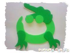 """Art creative ideas to teach Arabic alphabet: """"ت"""" is for """"تِمْساح"""" (crocodile)"""