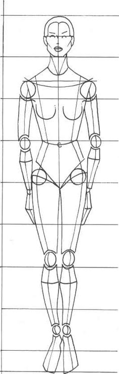 Sketched Female Body For Designers