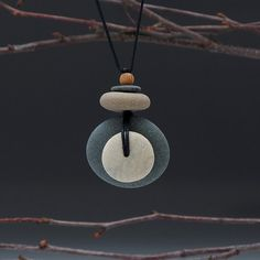 Beach Stone NecklaceNatural stones a personal by SueDavisJewelry, $55.00