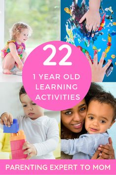 Are you looking for fun educational games for 1 year olds at home and in daycare? These fun learning activities encourage toddler skills. Discover what toddler milestones to expect and simple ways to boost language and motor skills. Activities For 1 Year Olds, Rainy Day Activities For Kids, Infant Activities, Toddler Learning, Fun Learning, Learning Activities, Childcare Activities, Early Learning, Toddler Development