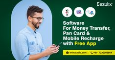 Ezulix provides best software for mobile recharge, money transfer and pan card service with highest commission in the market. Get free recharge app here. Make Money Online, How To Make Money, Registered Agent, First Bank, Starting Your Own Business, Wasting Time, Free Money, Free Apps, Software