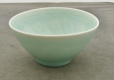 DEREK EMMS STUDIO POTTERY BEAUTIFUL CELADON GLAZED PORCELAIN BOWL | eBay