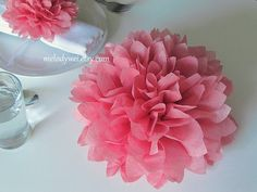 10 centerpieces, 9'' tissue paper flowers, good for Table Decoration and Aisle Decor on Etsy, $25.00