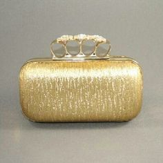 Knuckle Ring Clutch  Gold by DopeChicAccessories on Etsy, $30.00