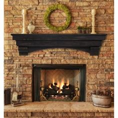 Pearl Mantels Devonshire Traditional Fireplace Mantel Shelf - Fireplace Mantels at Hayneedle