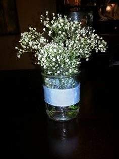 Baptism Centerpieces.. just add some pink roses.