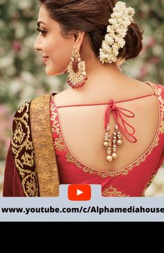 Stunning and amazing . A brief look into world of deep back blouse designs Stunning and amazing . A brief look into world of deep back blouse designs Saree Blouse Neck Designs, Fancy Blouse Designs, Saree Blouse Patterns, Bridal Blouse Designs, Lehenga Hairstyles, Bridal Hairstyles, Stylish Blouse Design, Sexy Blouse, At Least
