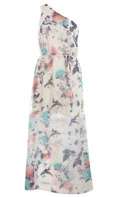 Karen Millen Lace Panel Dress, £190  Love the print and simple cut