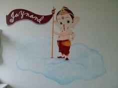 #muurschildering #Ganesh #niekiekidsdesign
