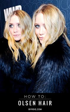 How to get Olsen twin hair: tips straight from Mary-Kate and Ashley themselves! // #hair #olsens #howto