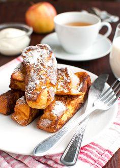 The Tough Cookie | Brioche French Toast with Vanilla Crème Fraiche | http://thetoughcookie.com