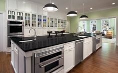 If space allows, two separate dishwashers is a great option for a large family