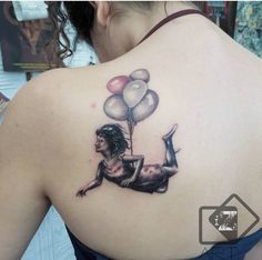 Balloon girl tattoo