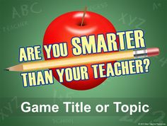 Are You Smarter Than a Grader PowerPoint Template - Classroom Game Teacher Games, Teacher Tools, Your Teacher, School Classroom, Classroom Activities, Teacher Resources, Classroom Ideas, French Classroom, School Resources