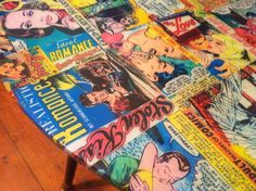 muebles con decoupage Decoration, Comic Books, Collage, Romance, Cover, See Through, Cape Clothing, Appliques, Objects