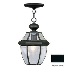 Livex Lighting�Monterey 12-3/4-in Black Outdoor Pendant Light