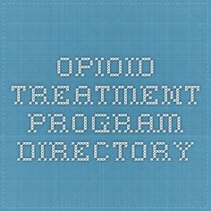 Opioid Treatment Program Directory