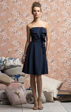 AU$108 - Elegant A-line Knee-length Strapless Dark Navy Satin Dress at Dressesonlineshops.com.au-123-pro-hsha_en_7_27_2