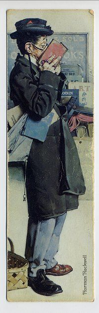 Norman Rockwell: The Bookworm (Detail)  *Did you notice that he has on one brown shoe and one black?