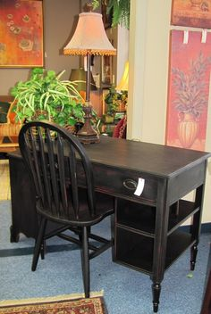 Desk and Chair $89.00. - Consign It! Consignment Furniture - I love this little desk!