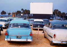 Drive in Movie Theaters opened at dusk