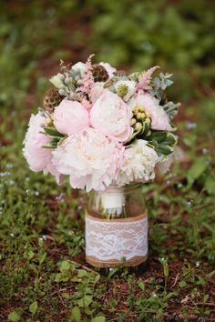 this is what i meant for the tin can flower vase...the burlap with lace over it looks nice..but simple and cheap