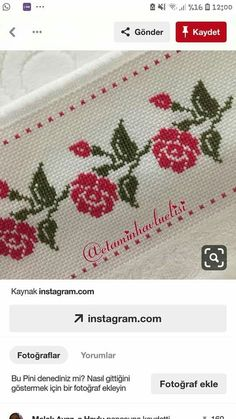 Cross Stitch Borders, Cross Stitch Designs, Cross Stitch Patterns, Pattern Design, Embroidery, Needlepoint Patterns, Cross Stitch Embroidery, Cross Stitch Samplers, Embroidered Towels