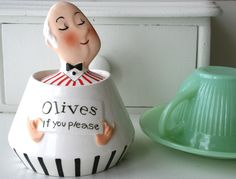 Olives if you Please - Vintage Jeeves Holt Howard Pixieware