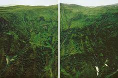 Axel Hütte, Furka, Schweiz, 1995 Mountain Hillside Greenery