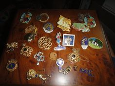 Lions Club lot of Necklaces, pins, pins with hangers 24+ 1960s-90s by MilliesAttique on Etsy