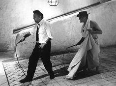 cinecitta fellini 8 1/2 | ... - Fellini E Mastroianni Sul Set Di Otto E Mezzo, CinecittÃ