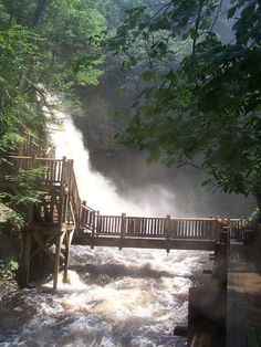 "My favorite place to hike: Bushkill Falls, PA--in the heart of the Poconos and gorgeous in the fall. Lovingly described as the ""Niagara Falls"" of Pennsylvania. Oh The Places You'll Go, Places To Travel, Places To Visit, Hiking Places, Bushkill Falls Pa, Bushkill Pa, Pocono Mountains, Relaxing Places, Adventure Is Out There"