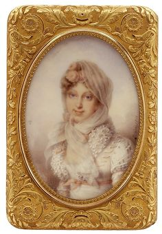 Snuffbox with miniature of the Empress Marie-Louise, the King of Rome, and Napoléon I/Maker: Gabriel-Raoul Morel (active 1798–ca. 1827) Artist: Miniatures by School of Jean-Baptiste Isabey (French, Nancy 1767–1855 Paris) Artist: and possibly by Madame Lizinka Aimée Zoé de Mirbel (1796–1849) Date: ca. 1815 Culture: French, Paris