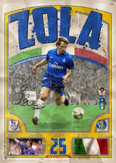 Gianfranco Zola, legend for Chelsea FC. Chelsea Fc Players, Chelsea Fans, Chelsea Football, Football Design, Retro Football, Best Football Players, Football Cards, Turin, Soccer