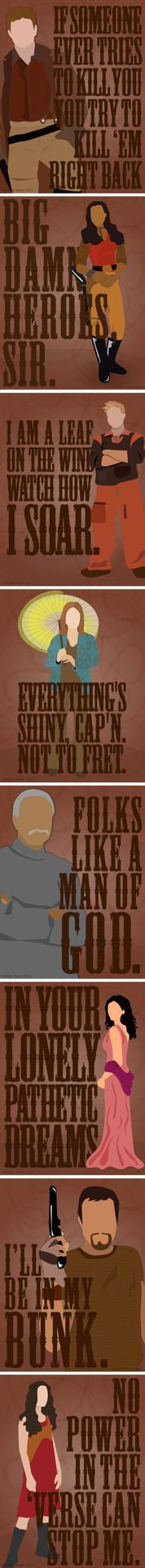 firefly fan art | Tumblr The gang's all here - except Simon. Still trying to think of a good quote for him. Please purchase something from my Society6 shop or my Redbubble shop - starving artist here and a Kaylee tote bag would be so cute! $5 off Society6 until the 11/11/12!