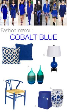 cobalt blue decorating accents - Google Search