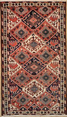 Nomadischen handgeknüpft Teppich 222 x 125 cm carpet alfombra oriental
