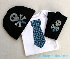 Baby Boy Leg Warmers Beanie and Body Suit by fourtinycousins, $45.00