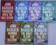 Tomorrow when the War began. The books that made me want to be a writer.