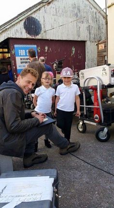 #TomHiddleston in the set of The Night Manager in Northern England. Photo taken by Jess and posted on Twitter. April 13, 2015.