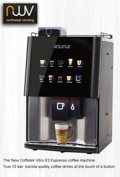 coffee machine Coffetek Vitro Every office should consider purchasing this machine. Easy to use, easy to clean and great quality coffee shop style drinks delivered quickly. Coffee Machine Design, Coffe Machine, Espresso Coffee Machine, Coffee Design, Coffee Maker, Starbucks Coffee Machine, Coffee Menu, Coffee Drinks, Ghee Coffee