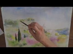 Un village provençal à l'aquarelle (watercolor tutorial) - YouTube