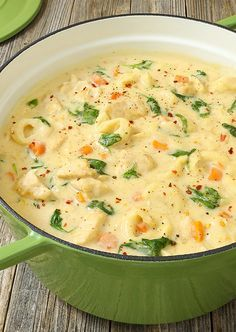 Chicken Alfredo Tortellini Soup is like your favorite chicken Alfredo recipe with vegetables in a rich and velvety soup. It is warm and comforting and utterly happy-dance inducing! Get the recipe: Chicken Alfredo Tortellini Soup Whole30 Soup Recipes, Best Soup Recipes, Healthy Soup Recipes, Cooking Recipes, Easy Recipes, Crock Pot Soup Recipes, Beef Recipes, Creamy Soup Recipes, Dinner Recipes