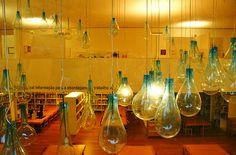 lightbulb sculpture in  parque serralves
