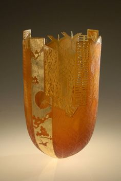 Binh Pho, Amber Dream ~ art glass sculpture