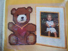Teddy Bear Frame - Plastic Canvas Kit by mooglamom on Etsy