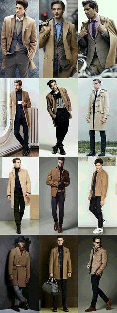 Moda hombre casual invierno 2019 Ideas for 2019 Camel Coat Outfit, Camel Coat Men, Camel Blazer, Mens Fashion, Fashion Outfits, Fashion Trends, Fashion Guide, Fashion 2014, Fashion Photo