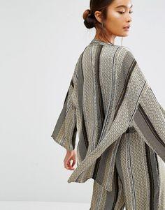 Image 2 ofFirst & I Printed Kimono Jacket