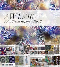 Autumn/Winter 2015/16 Print Trend Report Collection – 3 X PDF Bundle | Patternbank